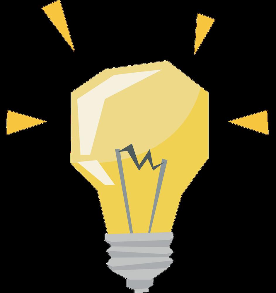 Grafiksymbol einer Glühbirne